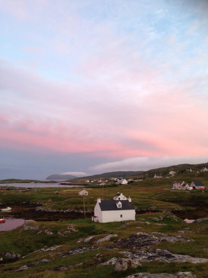 Sunset over Harbour Cottage